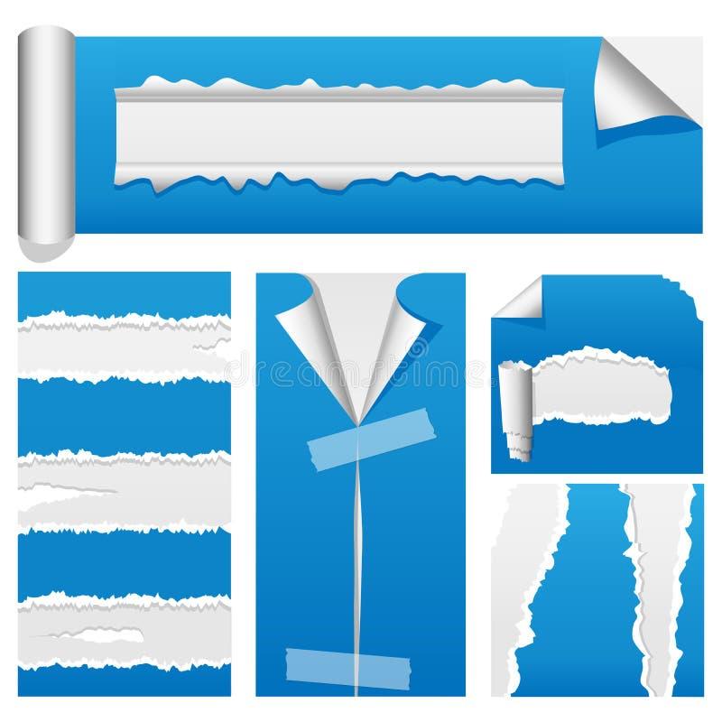 Free Torn Paper Set 2 Stock Image - 13120701