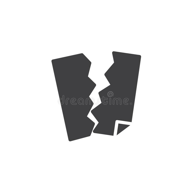 Torn paper sheet vector icon. Filled flat sign for mobile concept and web design. Refuse torn paper simple solid icon. Symbol, logo illustration. Pixel perfect royalty free illustration