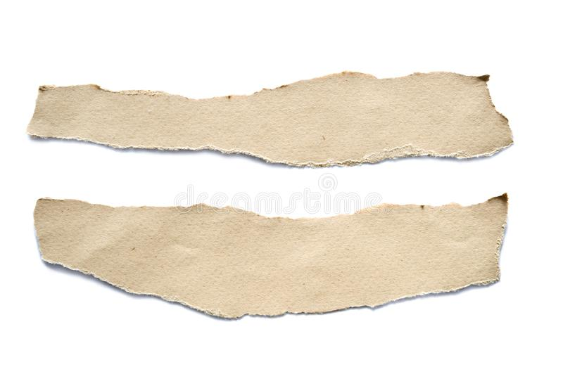 Torn paper sheets royalty free stock photography