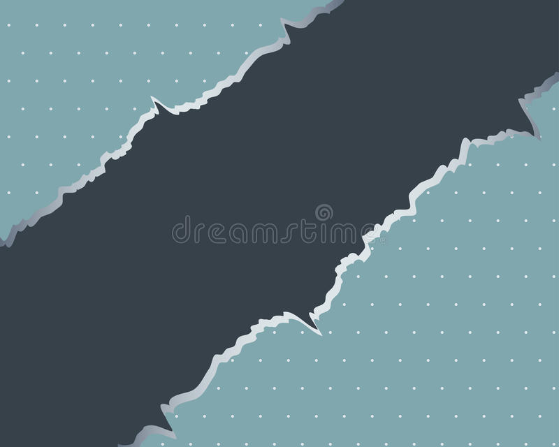 Torn paper with space for text. royalty free illustration