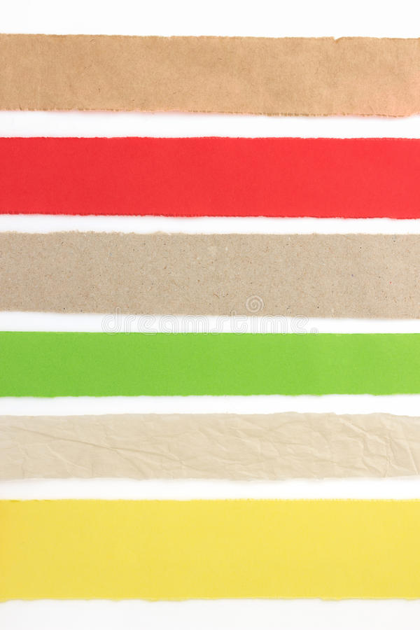 Download Torn paper strip on white stock image. Image of checked - 39503731