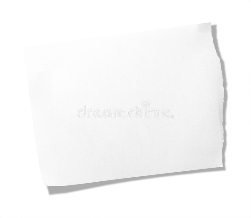 Download Torn Piece Of Memo Pad Paper Royalty Free Stock Photography - Image: 13523797