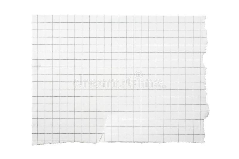 Download Torn Piece Of Squared Paper Stock Image - Image: 11075015