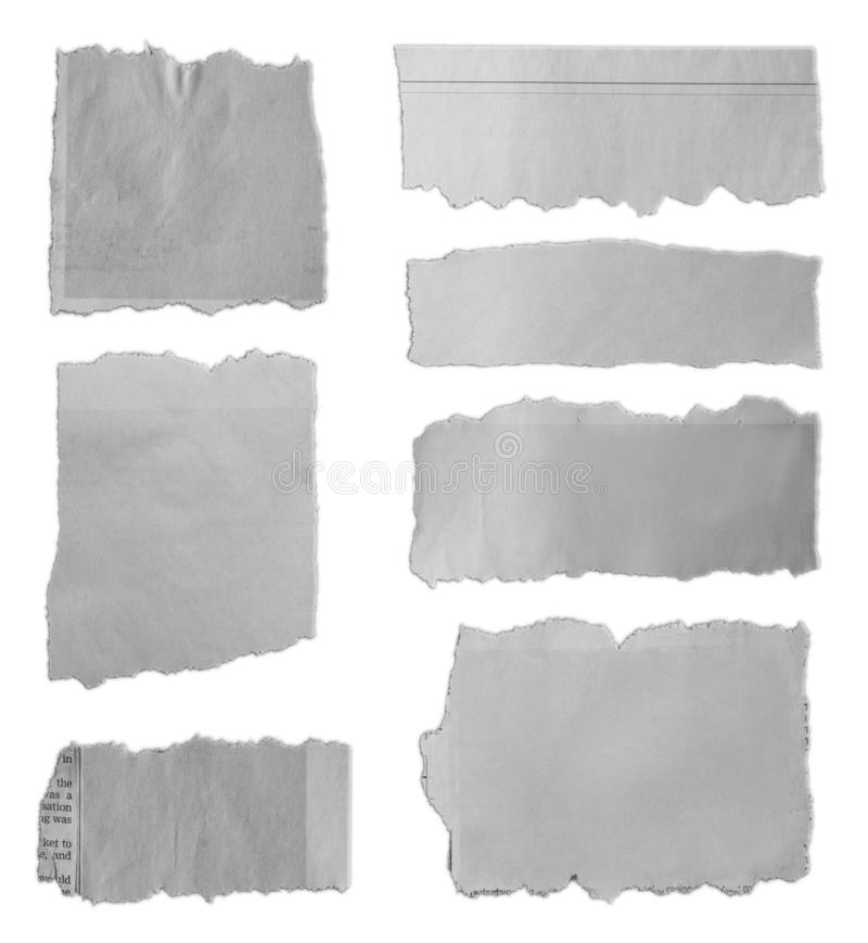 Torn pieces of paper royalty free stock photos