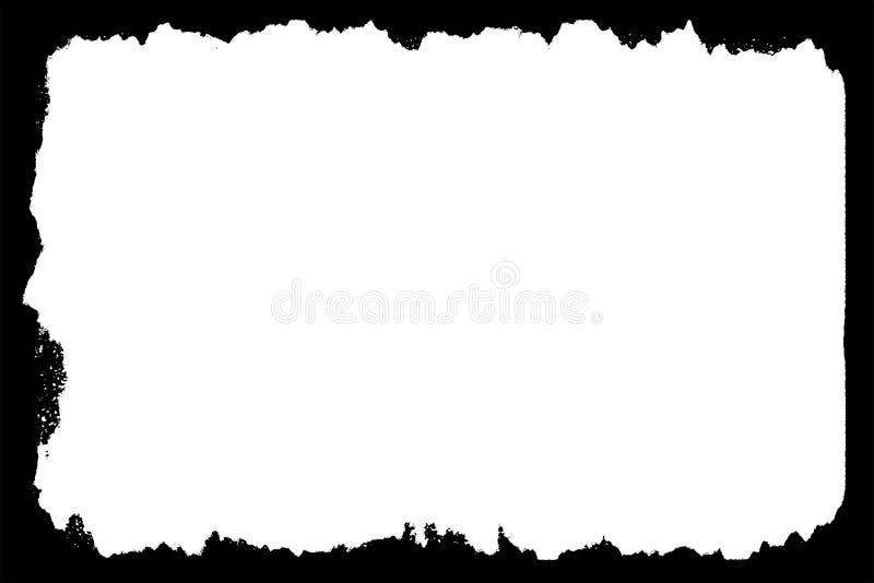 Torn & Ragged Black Photo Edges For Landscape Photos stock illustration
