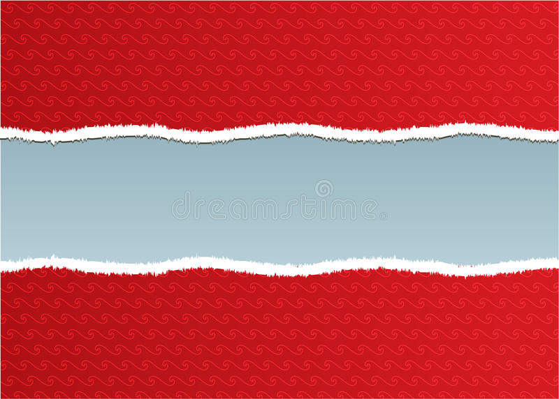 Download A Torn Ripped Red Wall Paper Stock Vector - Image: 13786130