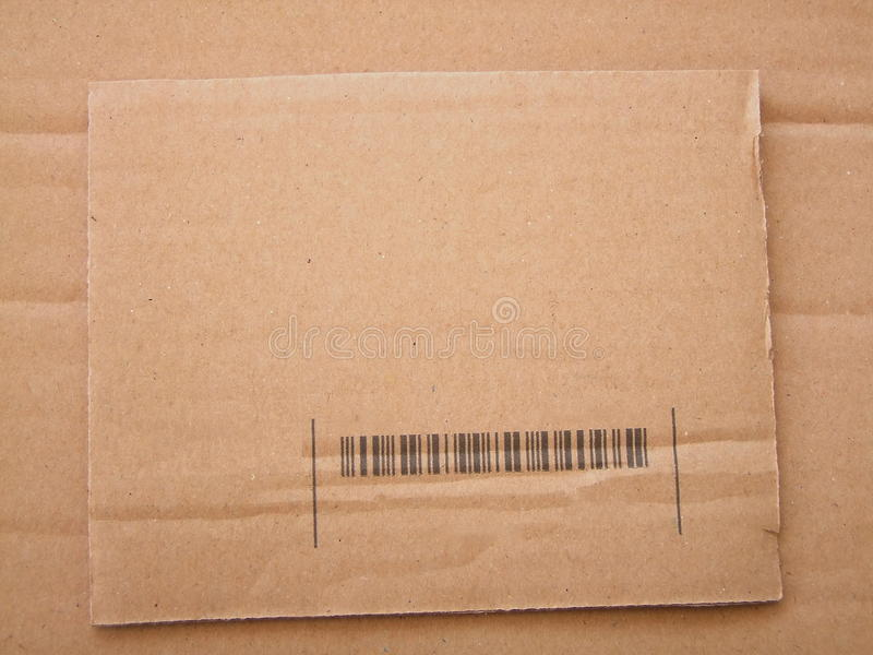 Torn section of carton background stock images