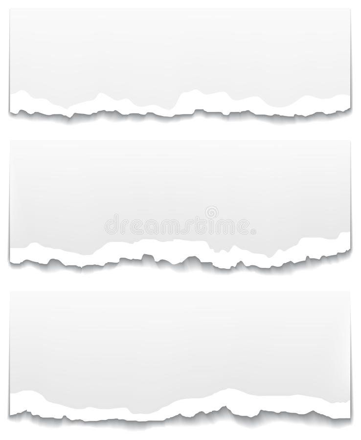 Torn and unstuck paper banners. stock illustration
