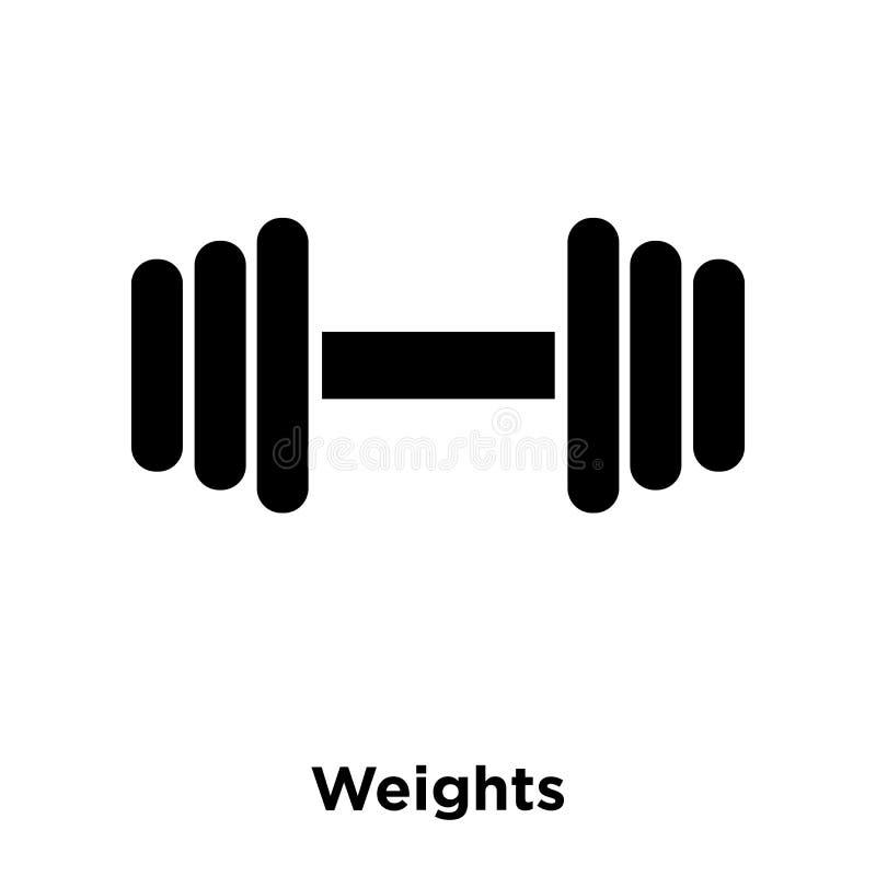Torna mais pesado o vetor do ícone isolado no fundo branco, conceito o do logotipo ilustração do vetor