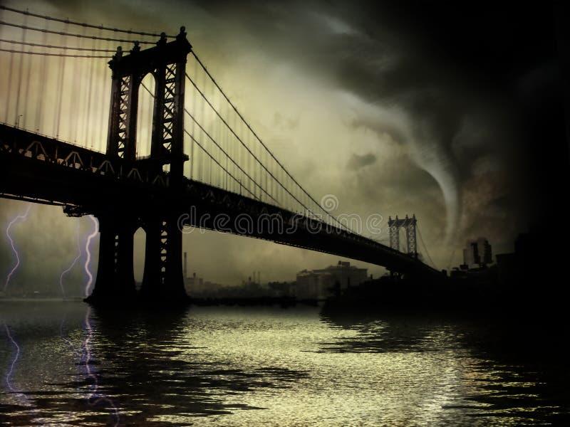 Tornade NYC NY illustration libre de droits
