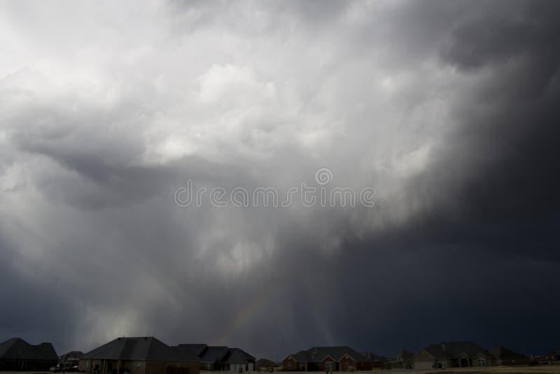 tornadic的风暴 免版税库存照片