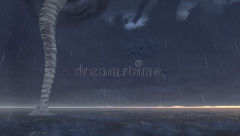 Download Tornado stock illustration. Image of rain, dramatic, nobody - 26032824