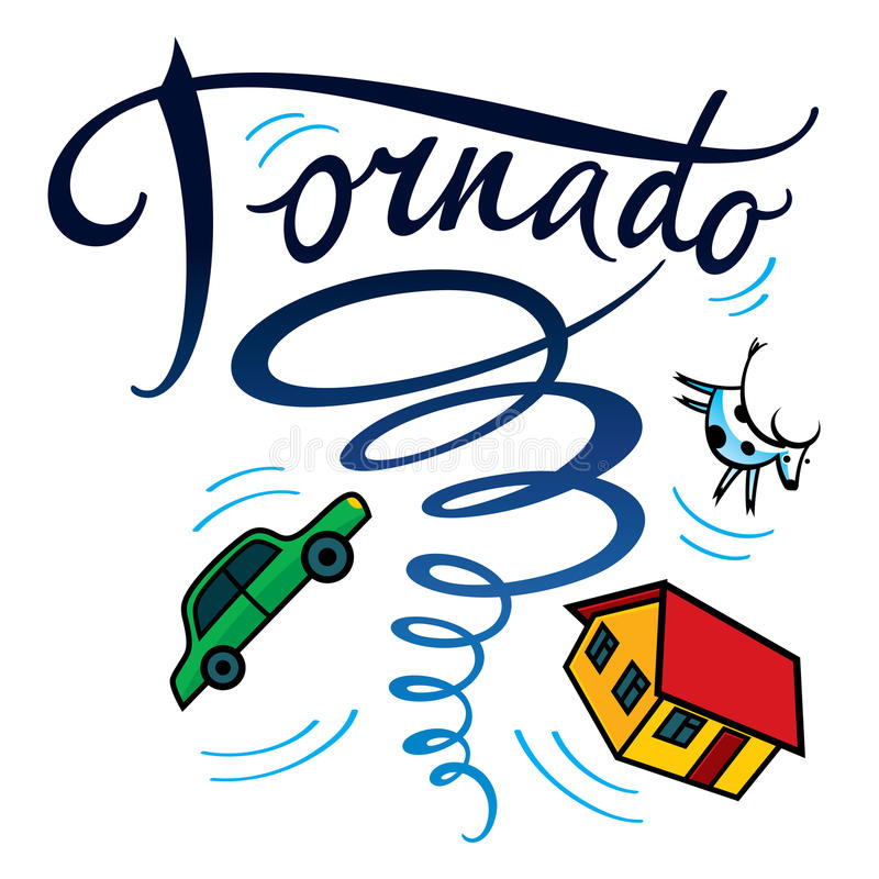 Tornado vector illustratie