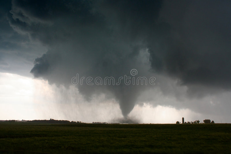 Tornado. An F2 Long Track Tornado in South Dakota stock photos