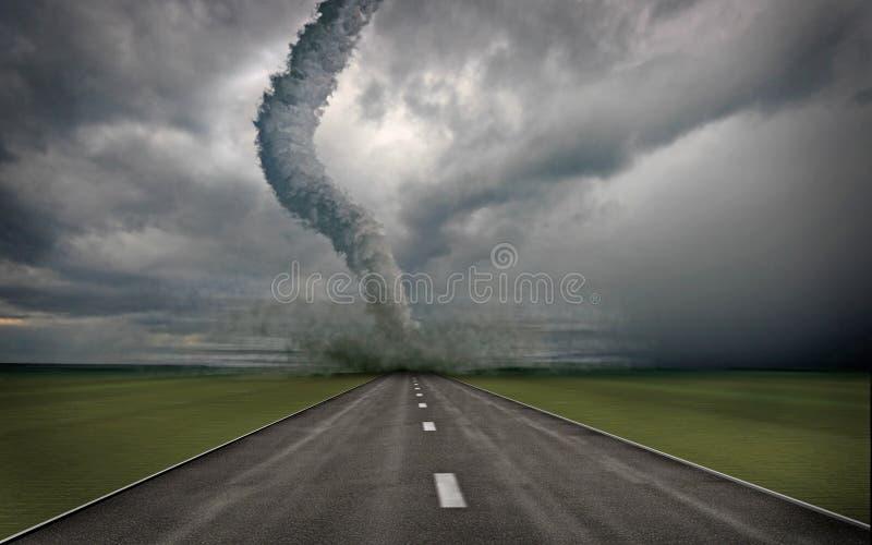 tornado. ilustracji
