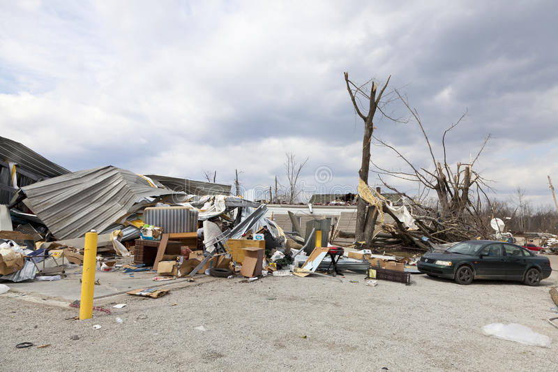 Download Tornado Aftermath In Henryville, Indiana Editorial Stock Photo - Image of devastation, henryville: 23681773