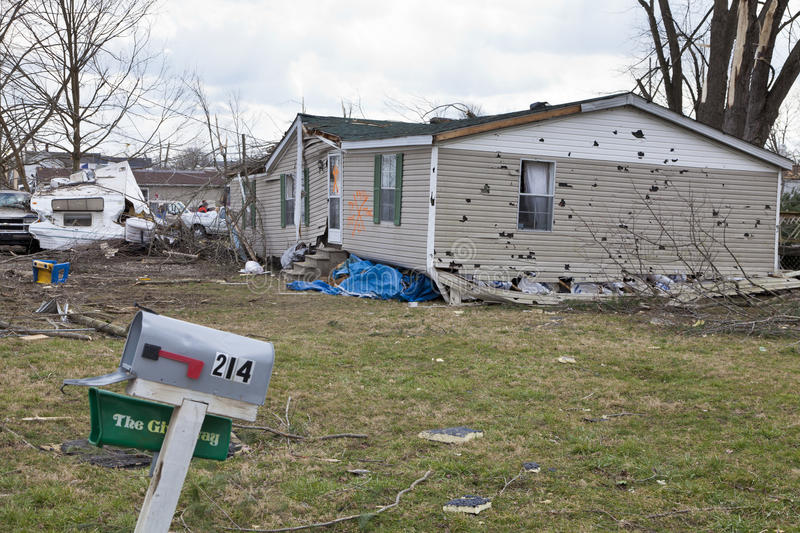 Download Tornado Aftermath In Henryville, Indiana Editorial Photo - Image: 23682221
