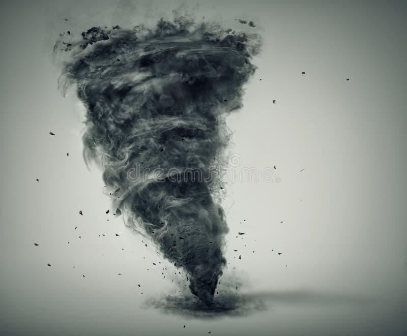 Tornado aislado stock de ilustración