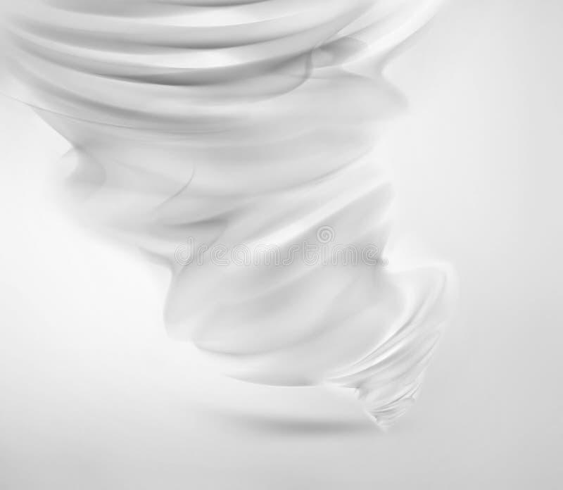 Tornado blanco abstracto stock de ilustración