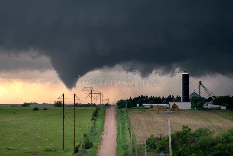 Tornado in centraal Nebraska royalty-vrije stock afbeelding