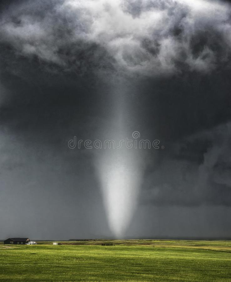 Tornado in Chugwater royalty free stock images