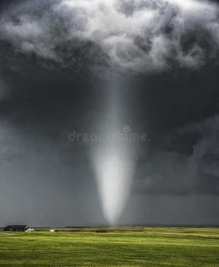 Tornado in Chugwater royalty-vrije stock afbeeldingen