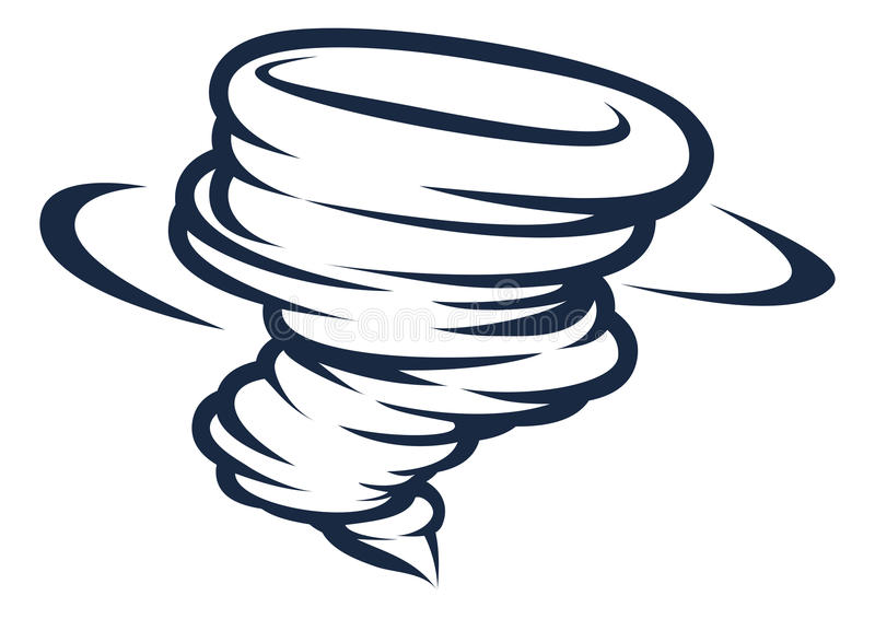 Tornado cyklonu skręcarki Huraganowa ikona ilustracja wektor