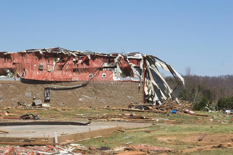 Tornado damage 1 royalty free stock photos
