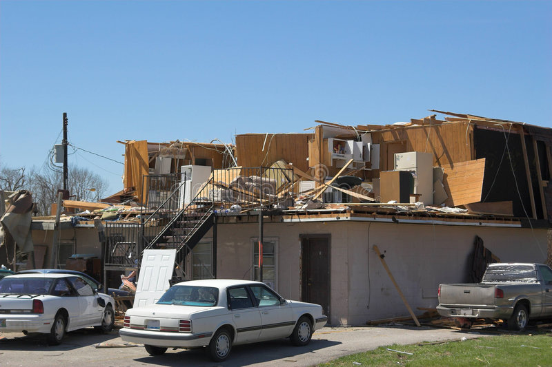 Tornado damage ky 1m stock photos