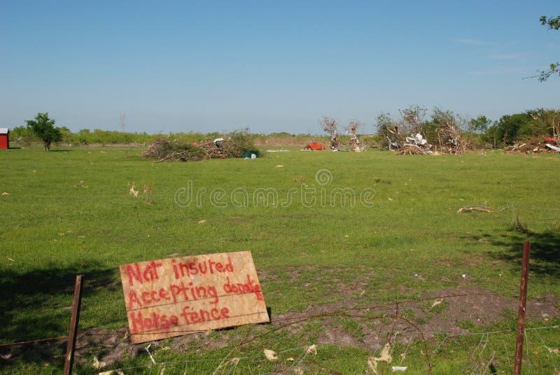 Tornado Damage - Not Insured stock images