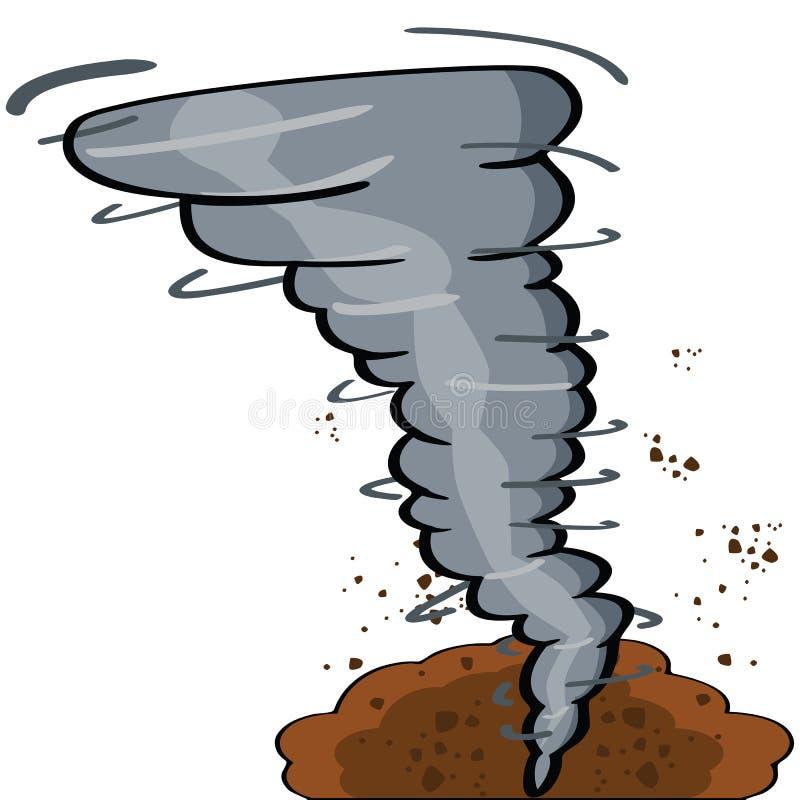 Tornado de la historieta stock de ilustración