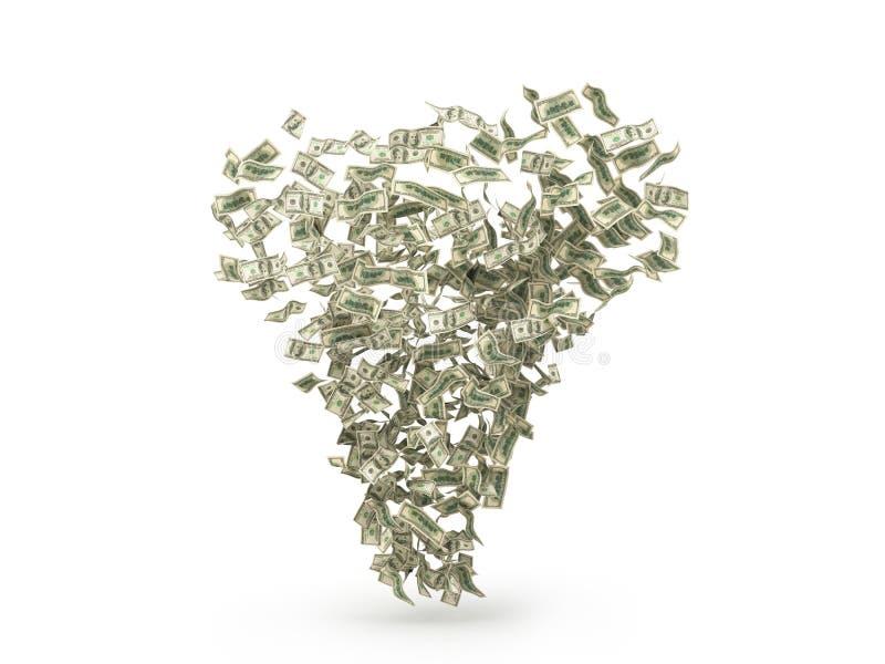 Tornado de los billetes de dólar ilustración del vector