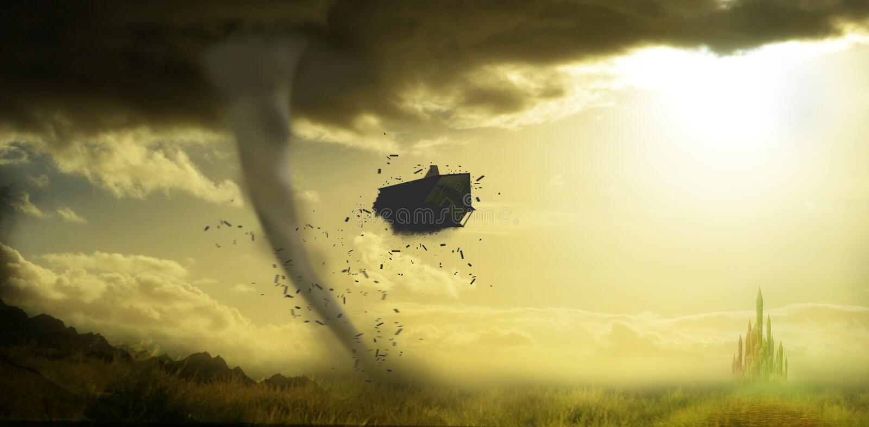 Tornado, der Haus ruiniert vektor abbildung
