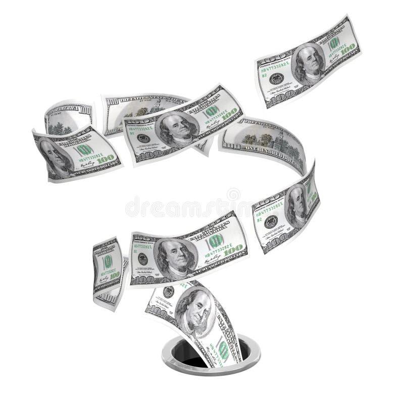 Tornado Dollars To Drain Stock Image