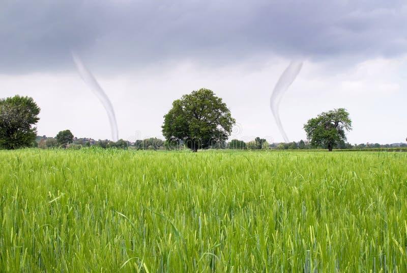 Tornado en gebied royalty-vrije stock fotografie