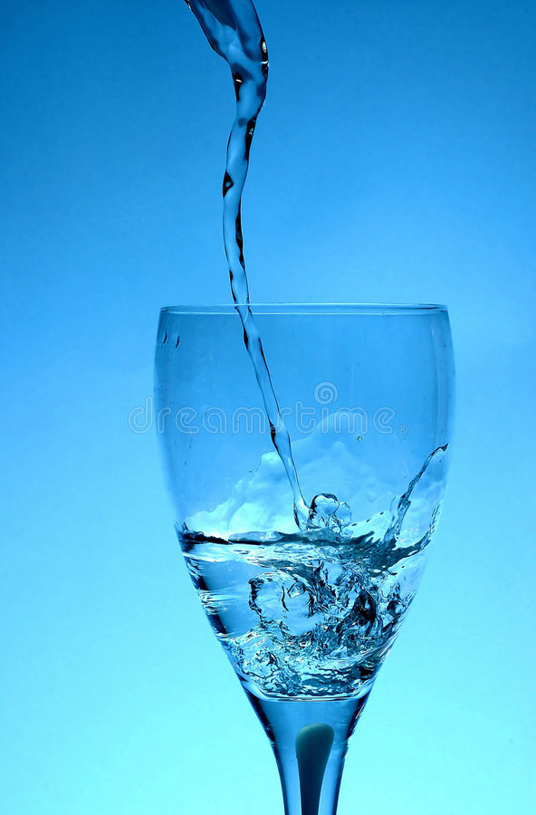 Tornado in a glass stock photo