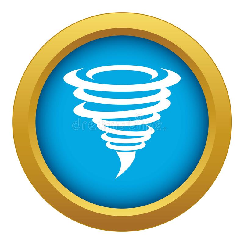 Tornado icon blue vector isolated royalty free illustration