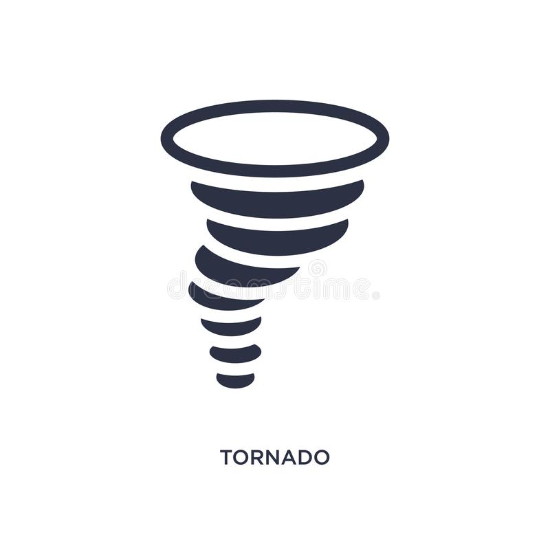Tornado icon on white background. Simple element illustration from weather concept. Tornado isolated icon. Simple element illustration from weather concept vector illustration