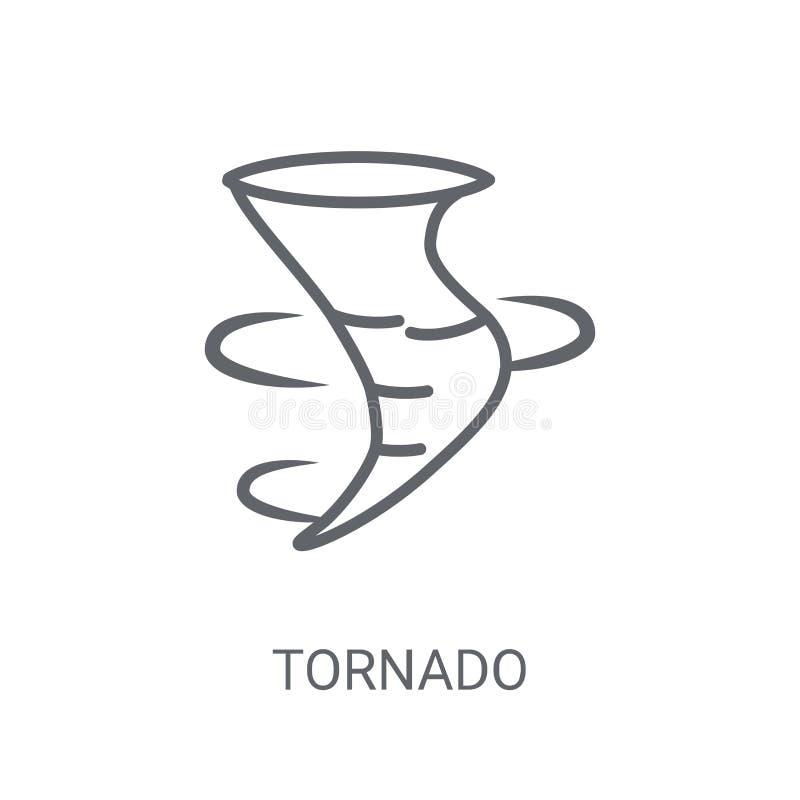 Tornado ikona Modny tornado logo pojęcie na białym tle fr ilustracja wektor