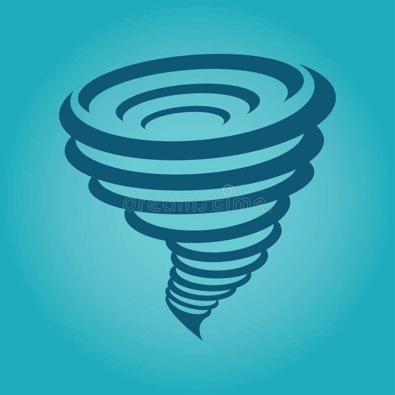 Tornado ikona, wektorowa ilustracja ilustracji