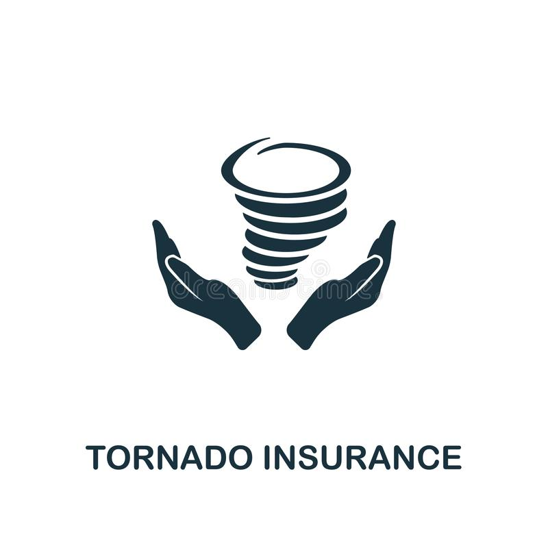 Tornado Insurance icon. Line style icon design from insurance icon collection. UI. Illustration of tornado insurance icon. Ready t vector illustration