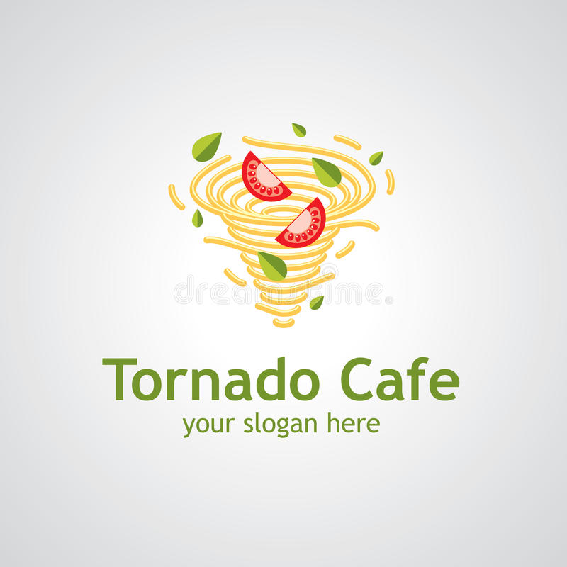 Tornado loga cukierniany wektorowy projekt royalty ilustracja