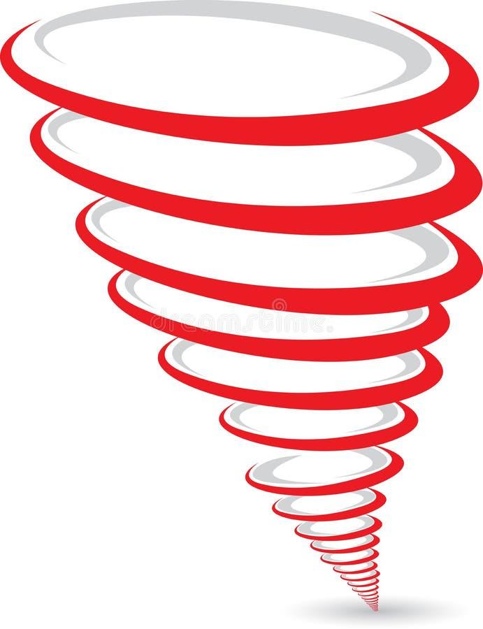 Tornado logo stock illustration