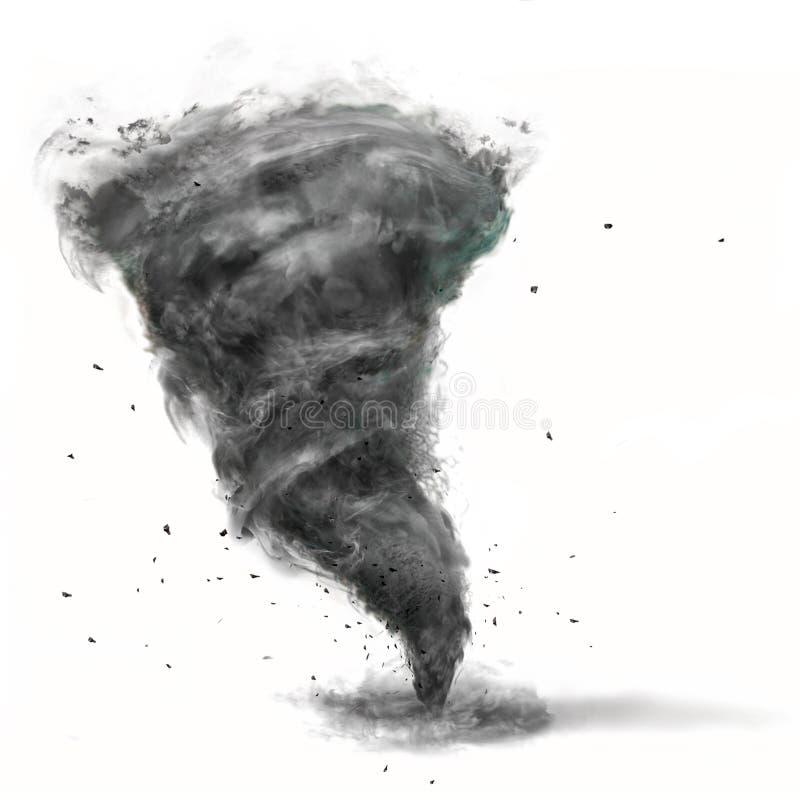 Tornado na białym tle royalty ilustracja
