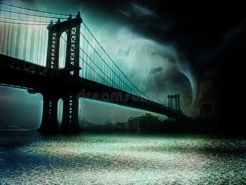 Tornado New York lizenzfreie abbildung