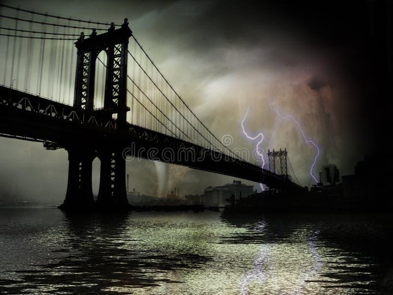 Tornado NYC. Tornado New York Digital Illustration vector illustration