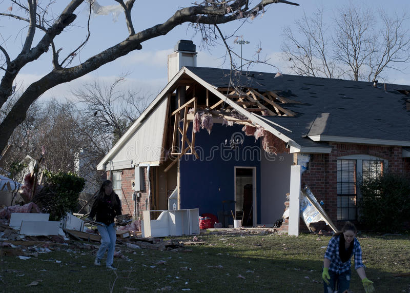 Tornado Relief Effort royalty free stock images