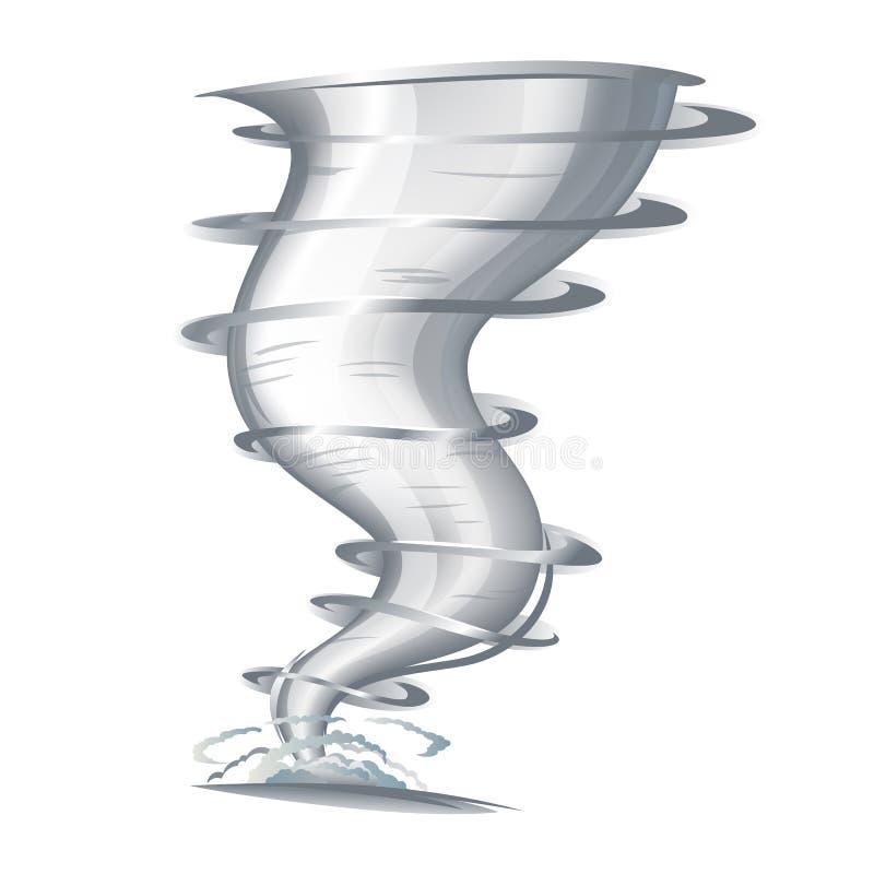 Tornado. With spiral twists, eps10 illustration make transparent objects stock illustration