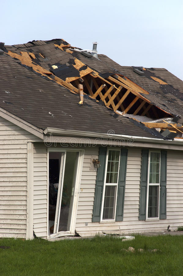 Download Tornado Storm Damage House Home Destroyed By Wind Stock Images - Image: 14896064