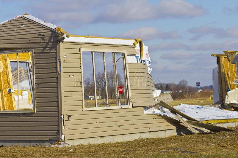 Tornado Storm Damage II - Catastrophic Wind Damage from a Tornado. Tornado Storm Damage II - Catastrophic Wind Damage from a Midwest Tornado royalty free stock photo